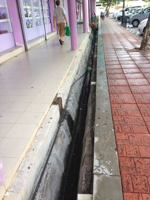 The somewhat dangerous drainage gutters