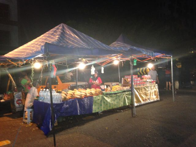 One of the many market stalls