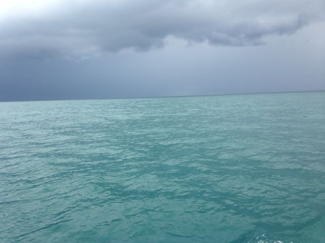 The approaching squall
