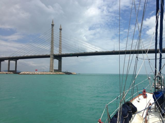 Approaching Penang Bridge