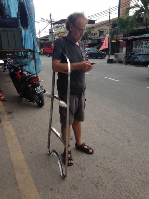 Paul with the bowsprit frame, Batu Maung