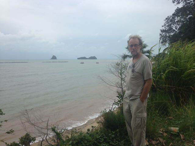 Paul with the Andaman Sea in the background