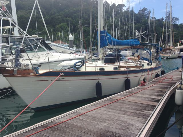 Sister Midnight berthed in Telaga