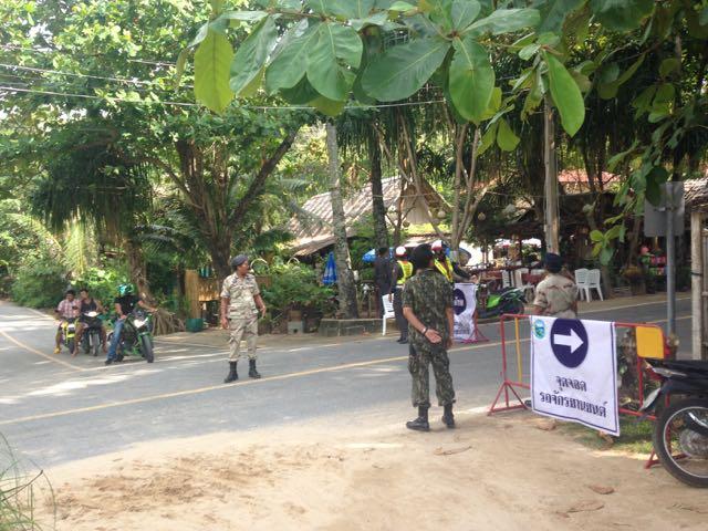 Military presence at Yanui Beach
