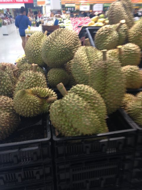 Durian in the supermarket